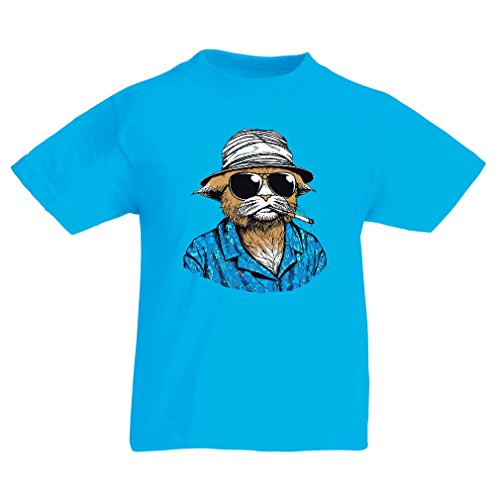 Funny t Shirts For Kids Vintage Private Eye (3-4 Years Light Blue Multi Color)