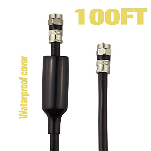 FOWOD-RG6-TV-Black-Coaxial-Cable-100-Feet-with-F-Male-Connectors-Double-Shielded-High-Performance-Indoor-and-Outdoor-Use-for-Terrestrial-Cable-and-Satellite-Television-Lifetime-Warranty