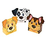 Fun Express Puppy Party Favor Boxes | 12-Piece Set | Great for Kids Birthday Party and Halloween Trick-or-Treat
