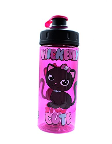 Cool Gear Wickedly Cute Cat Water Bottle 16 oz BPA Free By