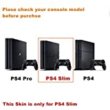 Red-eye Skull PS4 Slim Vinyl Skin Sticker Decal Cover for PlayStation 4 PS4 Slim Console Controller