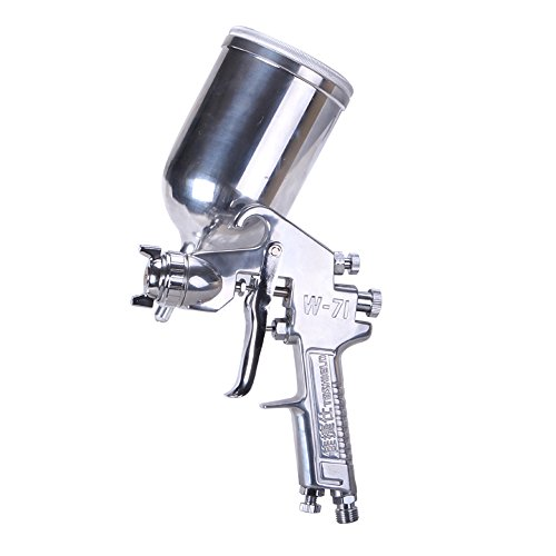 HPDAVV W71 Gravity Feed Precise Air Paint Spray Gun, Pneumatic Low Pressure Sprayer with 400cc Aluminium Alloy Cup, 1.5mm Nozzle