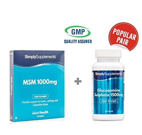 Msm 1000 Mg 120 Tablets - MSM 1000mg 120 tablets + Glucosamine 1500mg 120 tablets | For stiff & painful joints | 100% money back guarantee | Manufactured in the UK
