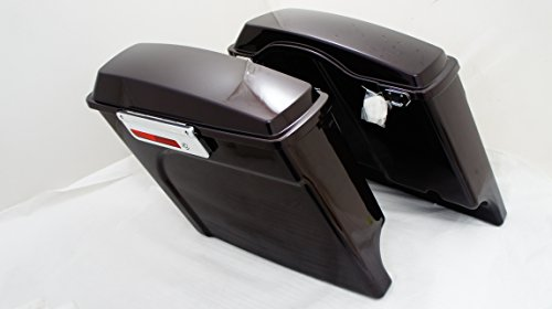 Black Cherry Extended Complete Hard Saddlebags 4