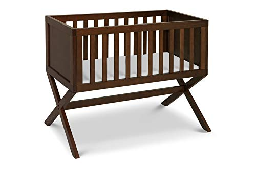 """DaVinci Bailey Bassinet with 1"""" Waterproof Cradle Pad, Converts to Toy Box, Espresso"""