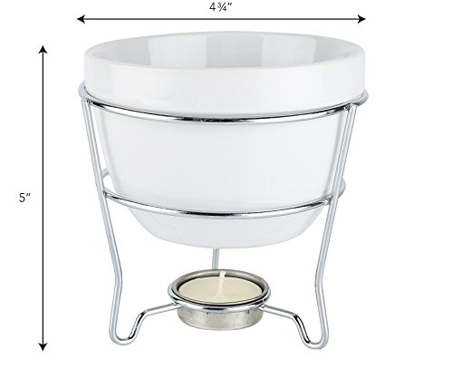 Home Essentials Home Essentials & Beyond 73024 White Chocolate Fondue Set In Color Box 5 D in, White by Home Essentials & Beyond (Image #4)