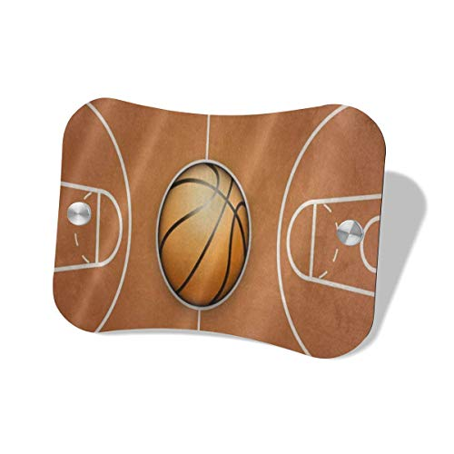 AsnowA Vintage Basketball Wooden Court Door Wall Decorative Sign for Home, House, Shop, Hotel, Pantry, Restroom, Closet Water, Closet, Laundry, Office, Toilettes, Bathroom, Restroom