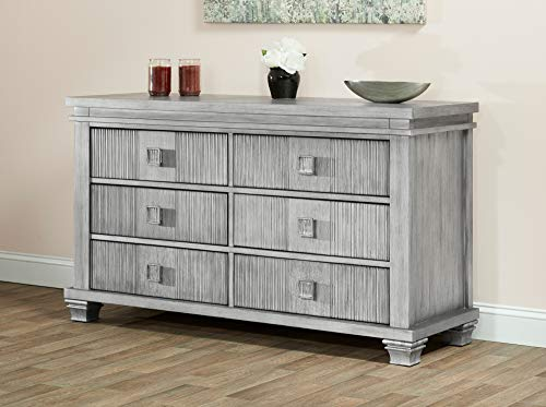 Oxford Baby Mayfield 6 Drawer Dresser Antique Silver
