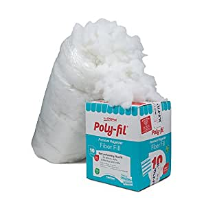 Fairfield PF-10 The Original Poly-Fil Premium 100% Fiber Fill Box, White, 10 lb