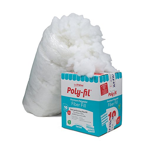 Fairfield Pf 10 The Original Poly Fil Premium 100  Fiber Fill Box  White  10 Lb