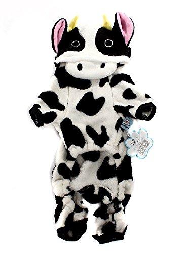 ARJOSA Puppy Dog Pet Halloween Costume Cow Jumpsuit Hoodie Clothes -