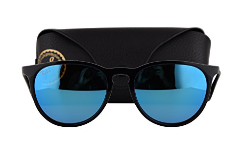 Ray Ban RB4171 Erika Sunglasses Black w/Light Green Mirror Blue Lens 60155 RB - Rayban Police