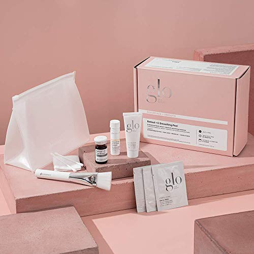 Glo Skin Beauty Retinol & C Smoothing Peel | Level 1 Professional At Home Peel Kit in a Box | For Exfoliating, Refining & Balancing