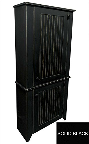 Sawdust City 2 Piece Kitchen Pantry Cabinet (Solid Black)