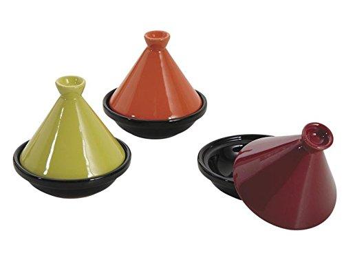 Lot de 6 mini plat /à tajine en c/éramique /Ø 10cm