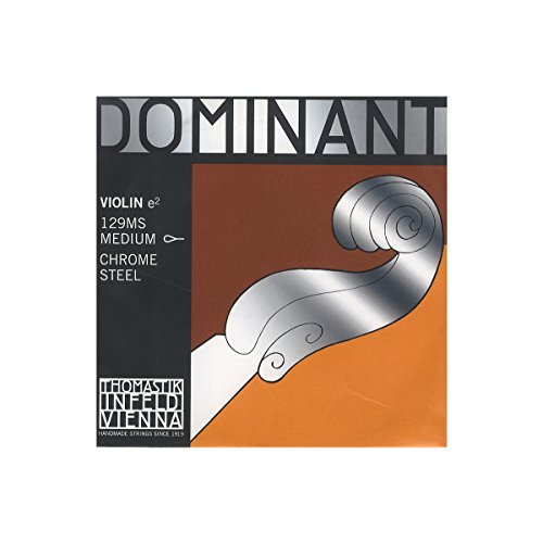 Dr Thomastik-Infeld 129MS Dominant Violin String, Single E String, 129, 4/4 Size, Chrome Steel, Loop End
