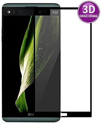 E-Hamii 3D Protector de Pantalla para LG V20 (Negro), HD Cobertura ...