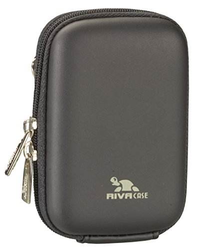 RivaCase 7022 PU Compact Case for Point and Shoot Digital Camera - Black (Sony Cyber Shot Waterproof Case)