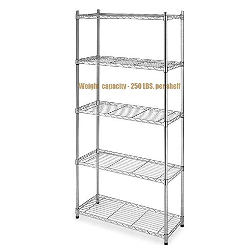 Dance Costumes Australia Sydney (Durable Constructed 5-Tier Steel Shelving Storage Organizer Adjustable Commercial Grade Wire Shelf - Chrome Finish #1165)