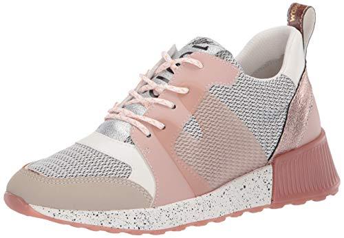 Sam Edelman Women's Darsie Sneaker, White/Griege/Ballet Pink, 9 M US