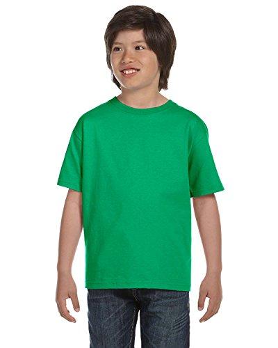 Gildan Dryblend Youth T-Shirt, Irish Green, Medium