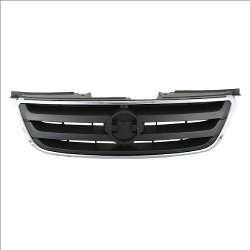 CarPartsDepot, Front Chrome Frame Molding Dark Gray Grill Insert Grille, 400-36644 NI1200197 620708J100