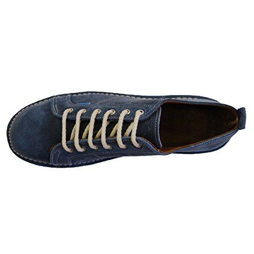 Zapatos Sneaker Con Mujer Cordones Ante Piel De r4rqw86