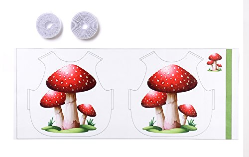 [Children's DIY Cloth Patchwork Parent-child Puzzle Toys Costume Clothes Party Dress Printed with Mushroom (Height 23.7