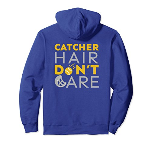 Don't Care Girls Softball Fastpitch Hoodie Gift Small Royal Blue ()