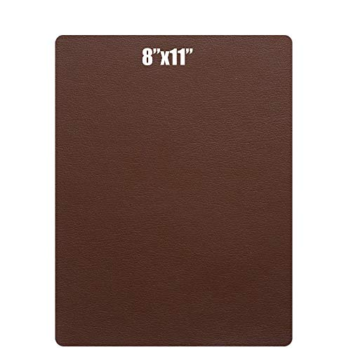 Besego Leather Repair Patch, Leather Adhesive Patch for Sofas, Drivers Seat, Couch, Handbags, Jackets - 8 × 11inch(Medium Brown) by Besego
