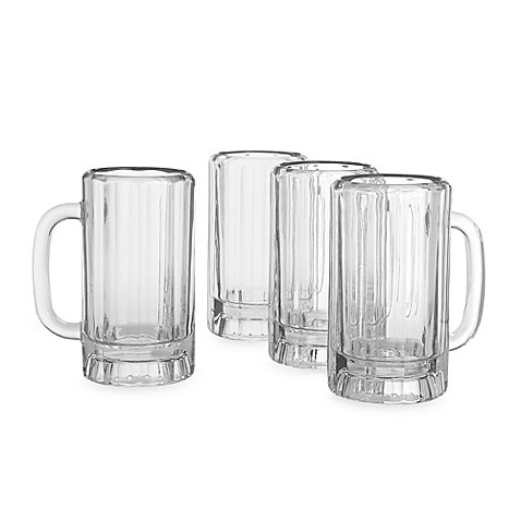 (Thick, Decagonal, Dailyware 16 oz. Beer Mug (Set of)