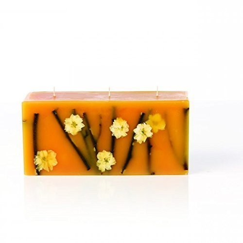 Rosy Rings Brick Botanical Candle - Honey Tobacco