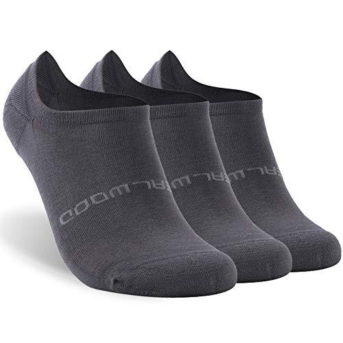 ZEALWOOD Athletic Trail Running Socks for Men and Women 3 Pairs-Dark Grey M by ZEALWOOD