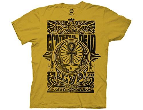 (Ripple Junction Grateful Dead Egypt 1973 Adult T-Shirt SM Ginger)