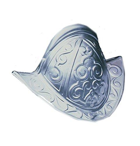 15312 Conquistador Costume Helmet Plastic Silver