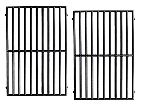 Hongso PCH252 Matte Cast Iron Cooking Grid Replacement for Select Gas Grill Models by Vermont Castings, ProChef, Ellipse and Kenmore Grills, Set of 2 ()