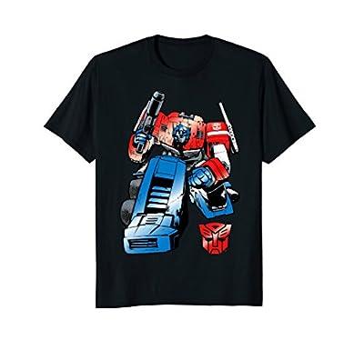 Transformer Optimus Prime Comic Style T-Shirt
