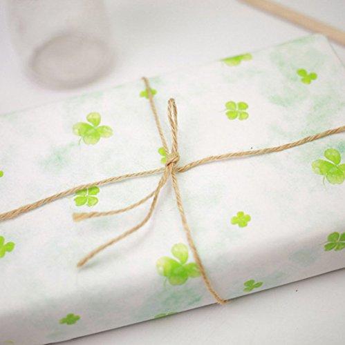 Jingyuu 10/m Ficelle de jute Corde Fil de coton naturel solide Corde de chanvre Ficelle Cordon pour DIY Emballage cadeau//cadeau//jardinage s rose
