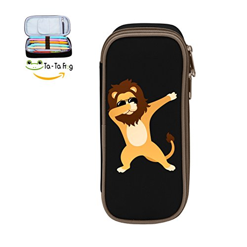 Durable Stationery With Double Zipper Large Capacity Dabbing Lion With Sunglasses Stationary Box Make Up Bag Pen Bag Pencil - Last Lion Sunglasses