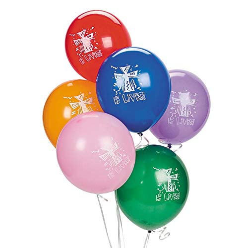 He Lives! Latex 11'' Balloons by Fun Express