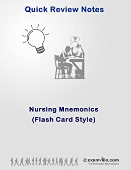 Nursing Mnemonics (Flash Card Style) (Quick Review Notes)