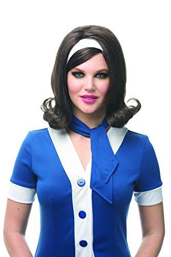 Costume Culture Women's 60's Flip Wig, Brown One -