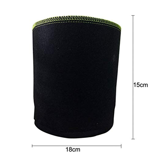 V2AMZ - Grow Bags Aeration Black Non-woven Fabric Pots with Handles Planting Bag Seedling Flowerpot (Seedling Planting Bar)