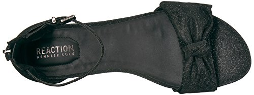 Start Wedge Fabric Kenneth Low womens Great Sandal Bow Detail Cole REACTION Black wvq4YxqaI