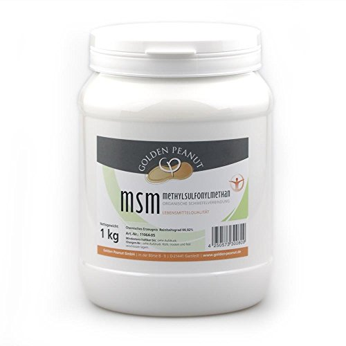 Golden Peanut MSM Methylsulfonylmethan Pulver, Reinheitsgrad 99,92% 1 kg Dose