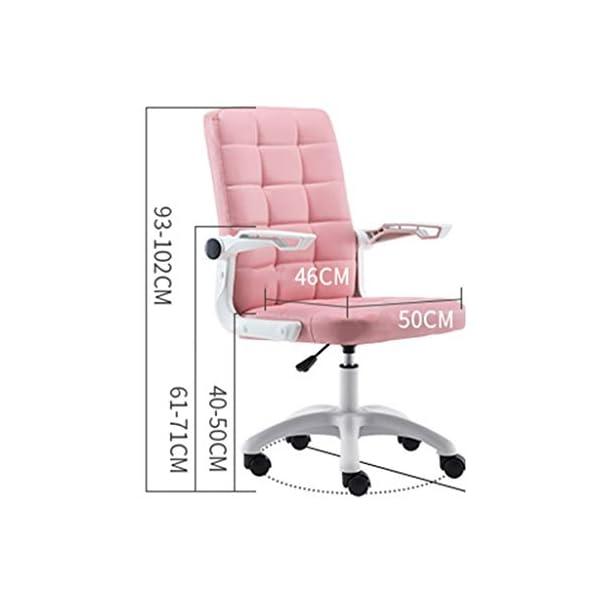 Chaise de bureau Chaise D'ordinateur Rose Chaise Fille Chaise Paresseuse Chaise De Bureau À Domicile Chaise De Jeu…