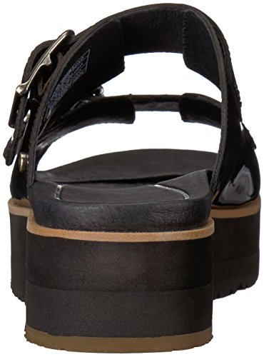 Slide Cammie Black Patent Women's Fastened Straps Leather Buckle Sandals UGG gPOT7nqwO