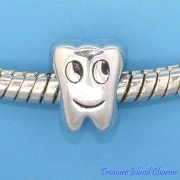 Diente Molar Dental dentista 925 plata de ley maciza ...