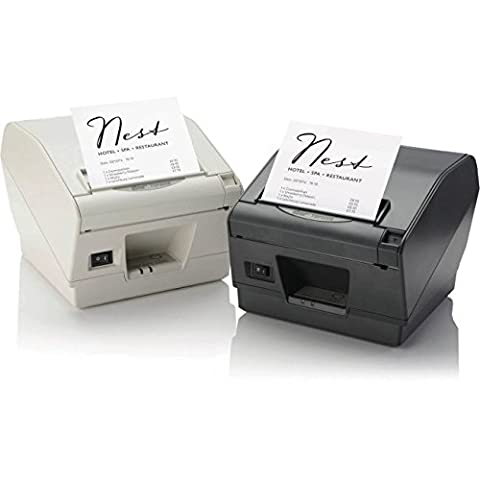 Star Micronics 39441131 Model TSP847IIE-24 GRY RX Thermal Printer, Auto Cutter/Tear Bar, Ethernet, Paper Lock, With External Power - 24 Thermal Printer Cutter