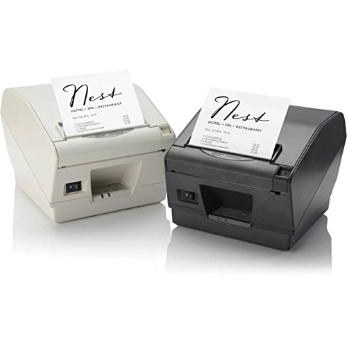 Star Micronics 39441131 Model TSP847IIE-24 GRY RX Thermal Printer, Auto Cutter/Tear Bar, Ethernet, Paper Lock, With External Power Supply by Star Micronics (Image #1)